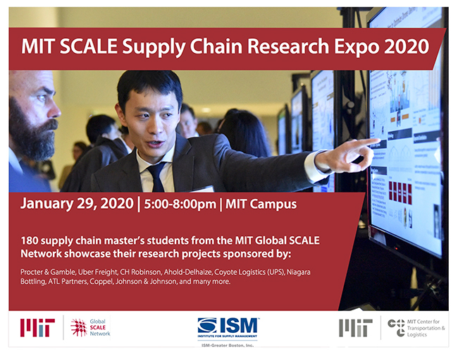 MIT SCALE Supply chain students present their master's research projects each year at Research Expo