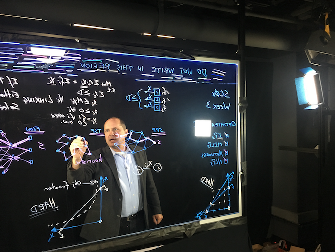 micromasters mooc caplice filming at lightboard