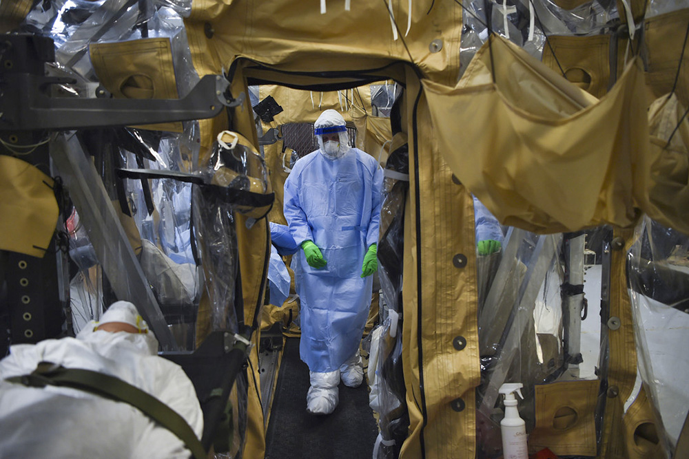 Ebola patients being treated in containment unit
