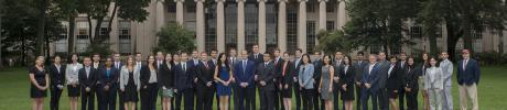mit ctl supply chain management graduates in front of mit dome